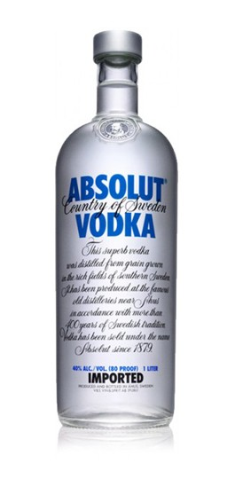 Absolut Vodka - 1Litre