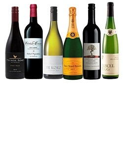 A mixed luxury ideal gift case of wine