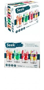 Seek Out Real Hard Seltzer - Variety Pack - 355ml [ case of 12 ]