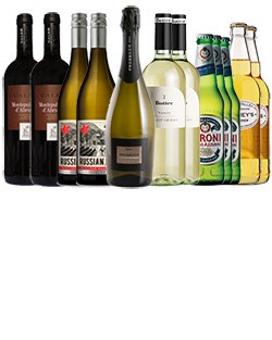 A Party Case, mix of wine, beer & cider