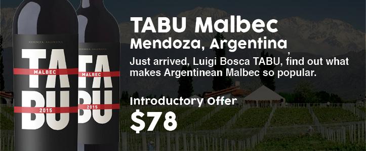 Luigi Bosca Tabu Malbec, Mendoza, Argentina